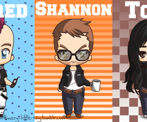 30 seconds to mars, chibi, and icon image