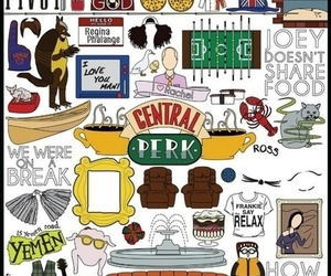friends, ross, and central perk image