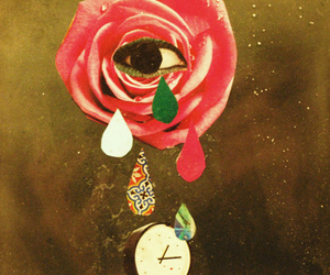 art, clock, and Collage image