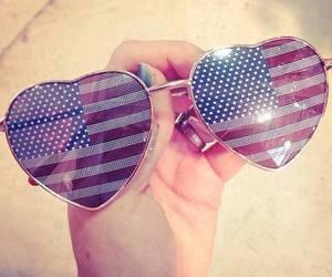 usa, sunglasses, and heart image