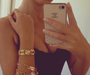 bracelets, chanel, and tan image
