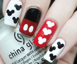 mickey, mouse, and nails image