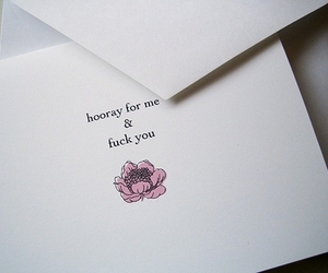 flower, fuck you, and text image
