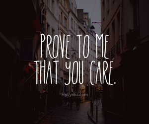 quote, care, and prove image