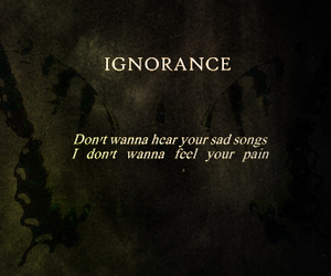 ignorance, Lyrics, and paramore image