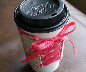 coffee, corset, and pink image