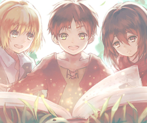 anime, shingeki no kyojin, and manga image