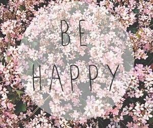 happy, flowers, and quotes image