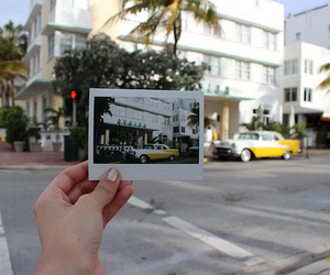 car, instax, and Miami image