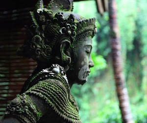 green, statue, and buddhism image