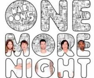 maroon 5 and one more night. image