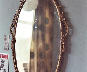 mirror, beautiful, and vintage image