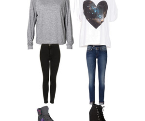 fasion, girl, and heart image