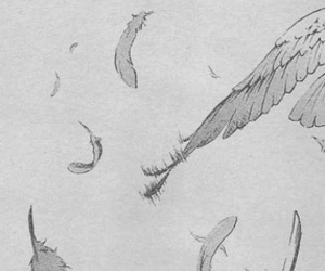 beautiful, feather, and manga image