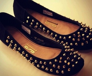 shoes, black, and flats image