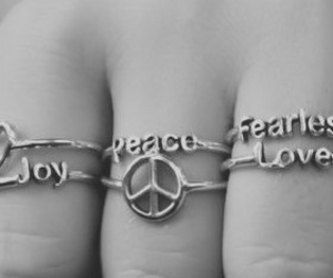 b&w, fearless, and joy image