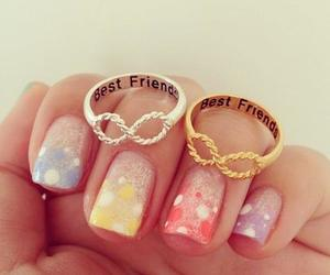 best friend, bff, and nails image