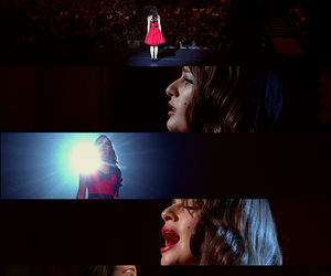 glee, rachel, and song image