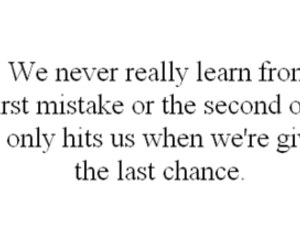 quote, mistakes, and chance image
