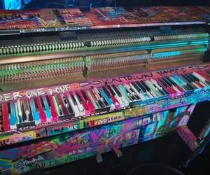 piano, coldplay, and music image
