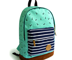 backpack, canvas, and print image