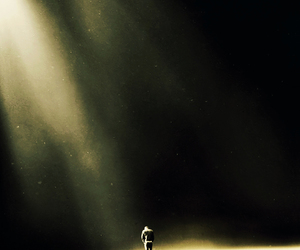 alone, dark, and loneliness image