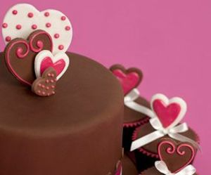 chocolate, corazon, and cup cake image