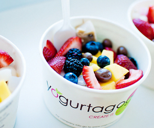 fruit, food, and yogurt image
