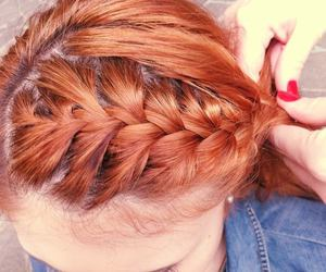 braid, girl, and red hair image