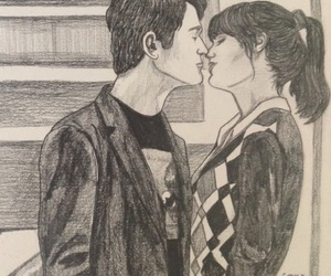 500 Days of Summer, draw, and girl image