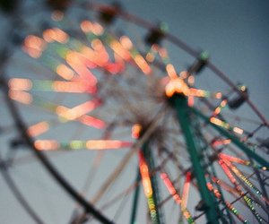 carnival, lights, and ferris wheel image