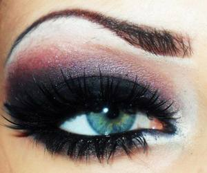 black, lashes, and makeup image