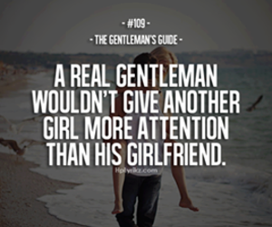 love, quote, and gentleman image
