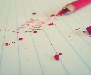 love, I Love You, and pencil image