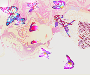 anime, beautiful, and butterflies image
