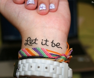 tattoo, let it be, and hand image