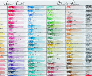 colors, painting, and faber castell image