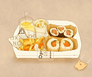 food, anime, and sushi image