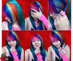 awesome, awesome hair, and colorful image
