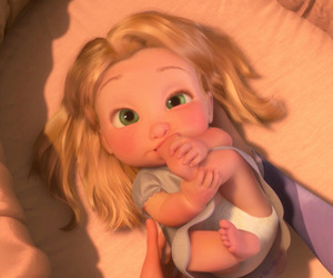 baby, tangled, and disney image