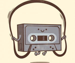 music, funny, and cassette image
