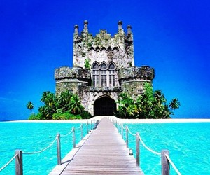 beach, castle, and beautiful image