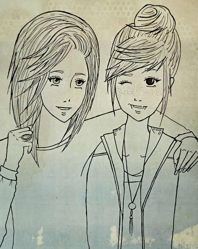 A Drawing Of Me And My Bestfriend On We Heart It