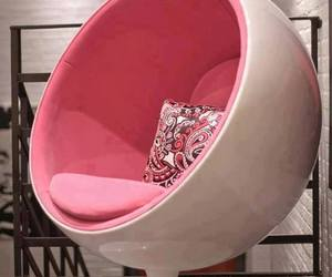chair, pink, and white image