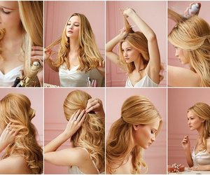 blonde, hairstyle, and nice image