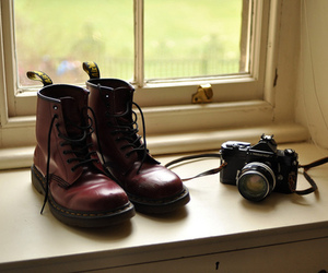 camera, boots, and shoes image