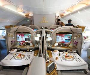 airline, airplane, and bed image