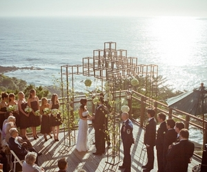 beautiful, outdoors, and wedding image