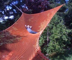 hammock, home, and relaxing image