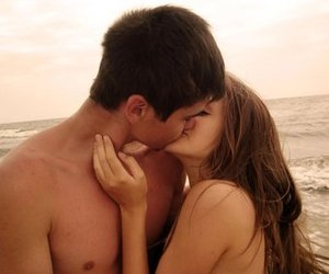 :), brunette, and couple image